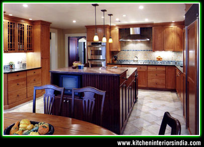 Wooden Kitchen Interiors in Punjab India